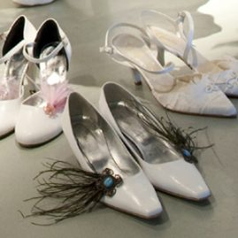 Chaussures de mariée customisées