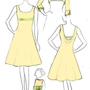 Croquis de la robe Argile Anisée
