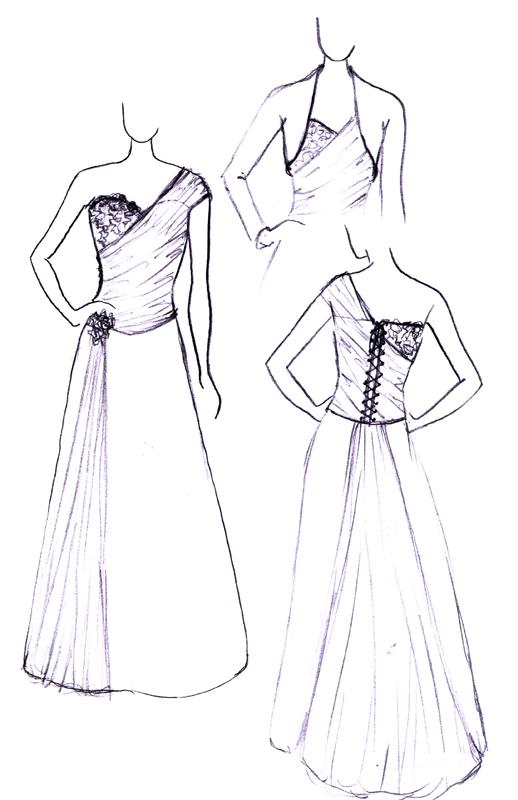 Croquis de la robe Garance Ivoirin