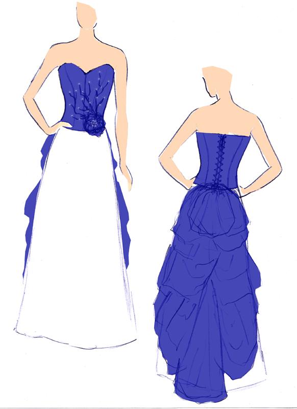 Croquis de la robe Klein Scintillant
