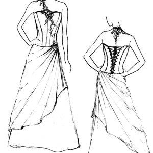 Croquis de la robe Violet Impérial