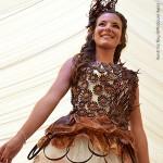 Robe de mariée en chocolat