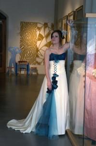 Robe de mariée évolutive Pétrole Turquoise