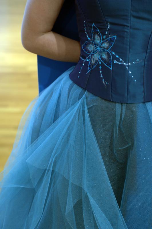 Robe de mariée Pétrole Turquoise