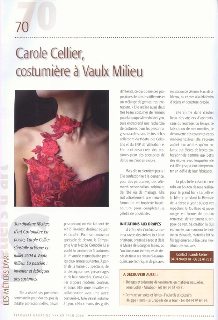 Article paru dans le magazine de la CMA en mars 2006