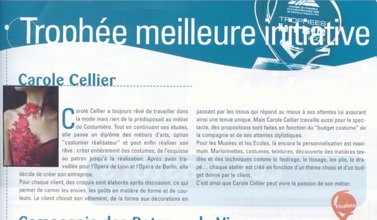 Article paru dans le magazine de la CCI en mars 2006