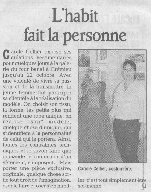 Article paru dans le Dauphiné Libéré en octobre 2006