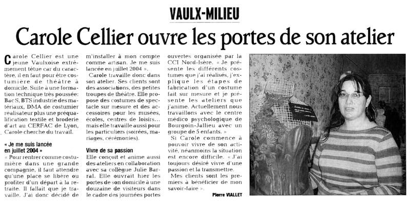 Article paru dans le Dauphiné Libéré en octobre 2007