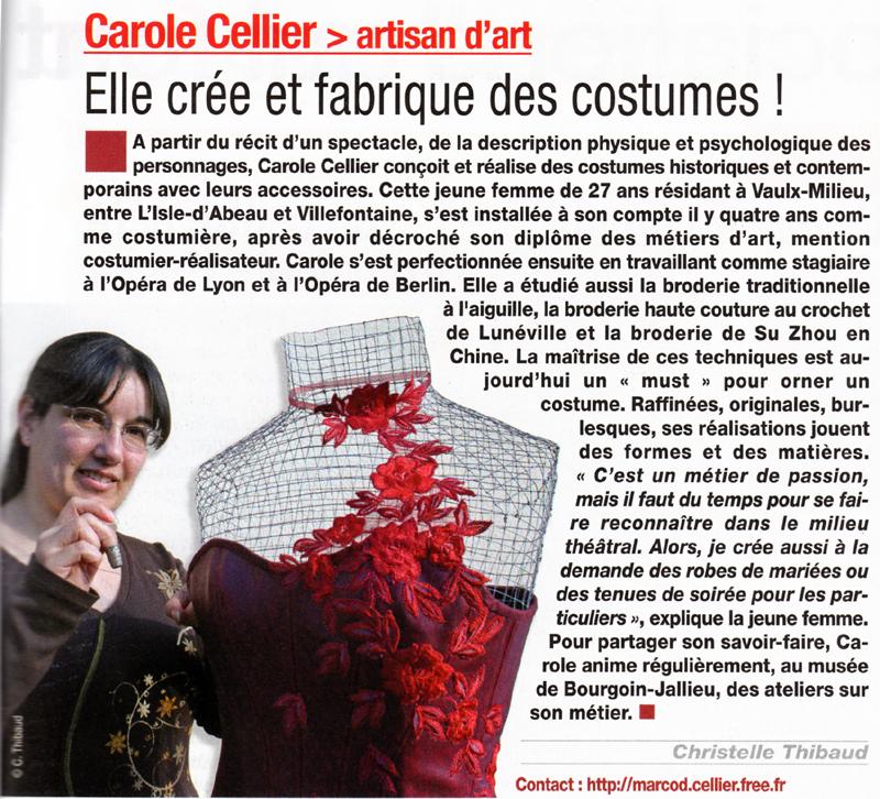 Article paru dans Isère Magazine en juillet 2008