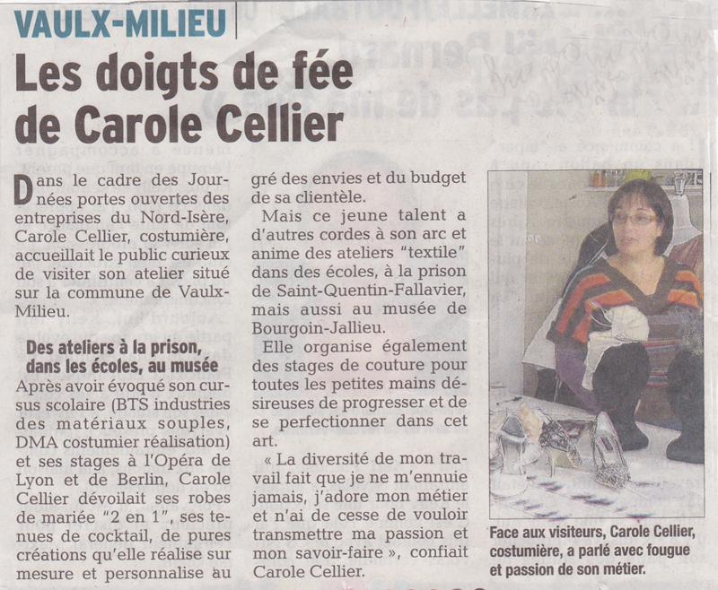 Article paru dans le Dauphiné Libéré en octobre 2013