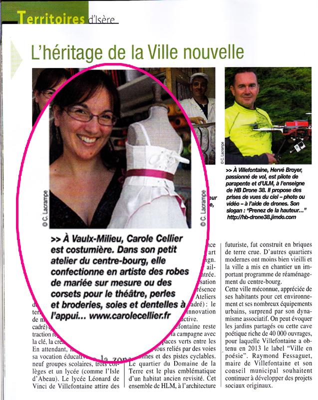 Carole Cellier dans Isère Magazine