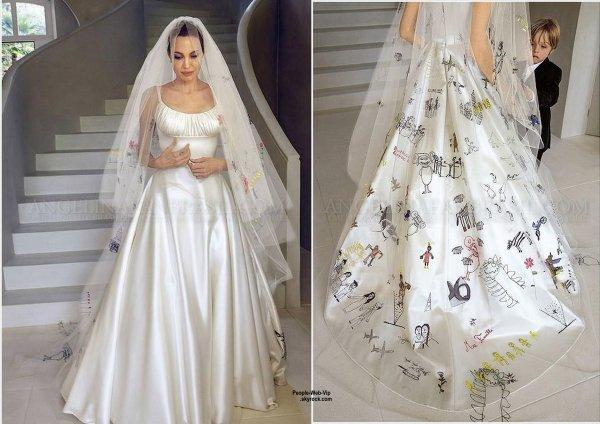 Robe de mariée d'Angelina Jolie