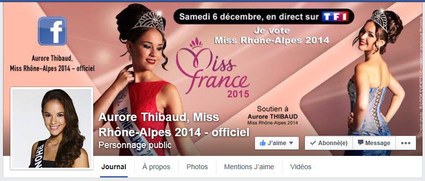 Aurore Thibaud, sa page Facebook