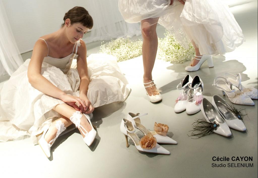 Clips pour chaussures de mariée