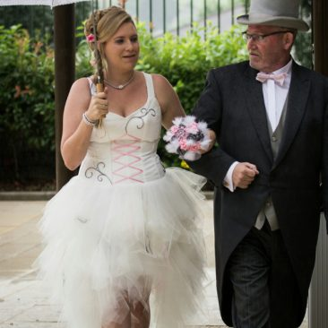 Robe de mariée Dragée argentée
