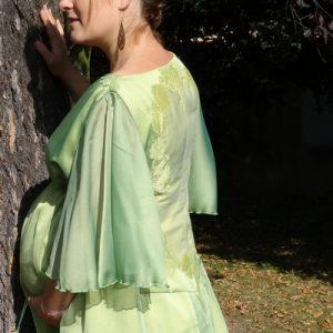 Robe cocktail pour femme enceinte taille réglable
