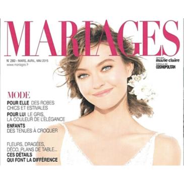 Carole CELLIER dans le magazine Mariages