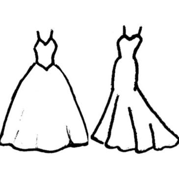 Choisir sa robe de mariée (2) : les différentes formes de robe